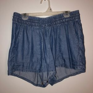 draw string jean shorts